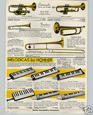 1970 PAPER AD Melodicas Hohner Piano Type Keyboard 6 Models Melodica