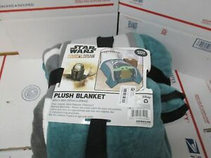 STAR WARS THE MANDALORIAN PLUSH BLANKET 62 IN X 90 IN NEW FAST / FREE SHIPPING
