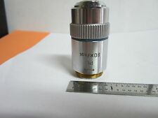 MICROSCOPE OBJECTIVE LEITZ WETZLAR GERMANY PL 80X INFINITY OPTICS BIN#A3-F-11