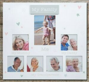 Love Life Multi Picture Aperture Photo Frame • My Family •  Wall decor Memories