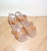NEW Clarks womens brown leather summer sandals - various sizes widths