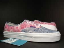 VANS AUTHENTIC ERA LIBERTY ART FABRICS PEACOCK BLUE WHITE RED VN-0U1W9YN DS 7.5