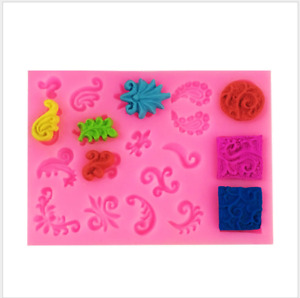 Cake Jelly Cookies Soap Mold Chocolate Baking Mould Tray Wax Ice Cube Decoration