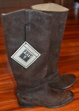 FRYE Lindsay Plate Brown Vitage Tumbled Leather Ridding Boots Sz.7 (M) WOW! $398