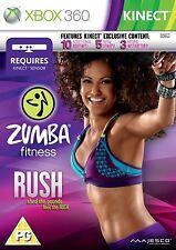 Zumba Fitness Rush Xbox 360 Kinect UK PAL (G) **FREE UK POSTAGE** New