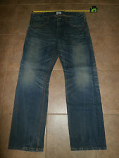 EDWIN Men's EXCLUSIVE VINTAGE 38 x 34 Worn Faded Dark Straight Leg Low 424XVS