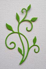 Leaf  Flourish Paper Die Cuts x 10 Scrapbooking Card Topper Embellishment