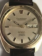 Omega F300Hz Tuning Fork Watch(ESA electronic chronometer day date gents watch