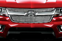 Fits Chevy Colorado 2015-2016 Stainless Steel Chrome Upper Billet Grille Overlay