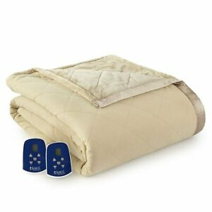 Shavel Micro Flannel Heated Ultra Velvet Electric Blanket Full