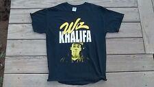 Cool WIZ KHALIFA T-Shirt L Hip Hop RAP Large weed smokin Used cracked ink