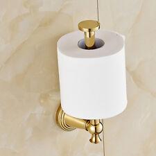 Gold Polished Toilet Roll Holder Wall Mount Paper Bracket
