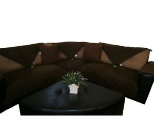 New and Improved Anti-Slip Grip Waterproof Micro Suede Sectional Sofa Slipcovers