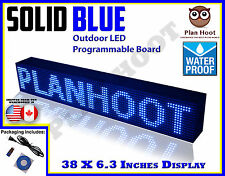 "BLUE - 38""X6.3"" LED PROGRAMMABLE SCROLLING SIGN - OUTDOOR (Totally Water Proof)"