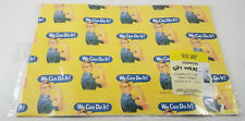 "Rosie the Riveter WE CAN DO IT Gift Wrap Wrapping Paper 2 Sheets 20"" x 30"" - NEW"