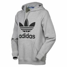 Adidas Original Men's TREFOIL GREY Hoodie and Crew Neck Sweatshirt S M L XL