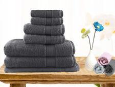 Brand New  Soft Touch 7 Piece 100% Cotton Bath Towel Set - Charcoal