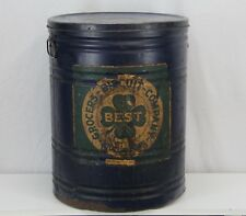Large Antique BEST Grocers Biscuit Company Tin - Louisville KY - Pet Butter