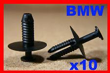 10 BMW PARAURTI PARAURTI PLASTICA CLIP VITI SERIE E36 E46 E90 E39 E60