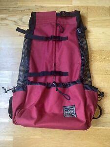 L.D Dog Backpack Rucksack Carrier L Large Puppy Walking Hiking Travel Bike Red