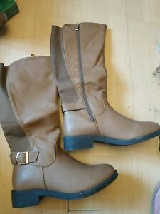 BNWB Brown Knee High Boots Wide Fit Size 6