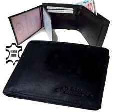 7594d9cb6c1cd Herrengeldbörse Geldbörse Portemonnaie Leder  schwarz  Querformat