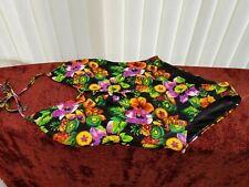 "Ladies BNWT ""F&F"" Black Floral Halter neck Swimming Costume (Size 18)"