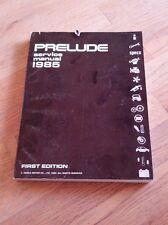 1985 Honda Prelude OEM Service Repair Manual
