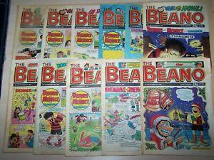 11 Beano Comics 1989 ~ 2,16,23/9, 7,21,28/10, 11,18,25/11, 9,23/12  (148)