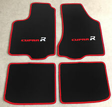 Autoteppiche Fußmatten für Seat Ibiza 6K Cupra R 1993-2002 schwarz rot 2farbig