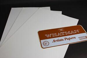 3 x SHEETS WHATMAN WHITE FINE ARTISTS PAPER  - UK POST FREE