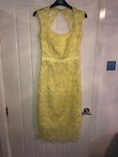 Lipsy VIP Dress Size 8 Yellow Lemon 3d Lace Midi Dress BNWT