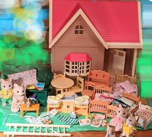 Sylvanian Families ORCHARD COTTAGE HOME 5  SANDY CATS FURNITURE Calico Critter