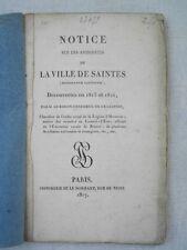 NOTICE ANTIQUITES VILLE DE SAINTES MEDAILLE GAULOISE 1815 ARCHEOLOGIE SAINTONGE