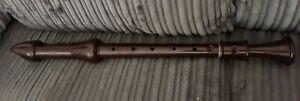 Vintage Schotts treble recorder brown plastic Schott