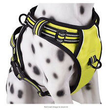 Dog harness reflective vest with 2 leash attachments, adjustable strapes
