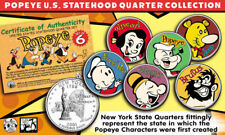 POPEYE & FRIENDS US Statehood Quarter Colorized 6-Coin Set *Officially Licensed*