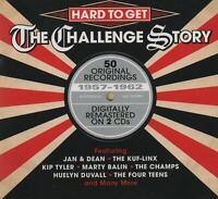 HARD TO GET - THE CHALLENGE STORY - JAN & DEAN CHAMPS CHEROKEES - 2 CDS - NEW!!