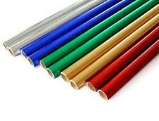 10 x métallique rouleaux de papier 50 cm x 1.5M - 2 de chaque couleur-anniversaire/noël