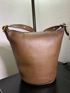 Vintage Coach Tan Duffle Sac XL Bucket 9085