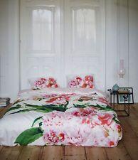 Essenza Satin Bettwäsche Karin Multi Pfingstrose weiß rosa 155x220 cm 2-tlg.