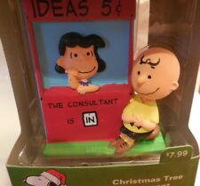 2016 Peanuts Hallmark Charlie Brown and Lucy the Consultant Christmas Ornament