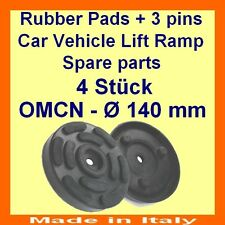 SET OF 4 PADS for OMCN 2 Post Car Lift Ramp Rubber Pads +3 pins-140mm - ITALY-@