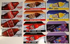 Soda 20 oz Bottle Vending Machine Flavor Strips 12 pcs assorted 2 pcs each
