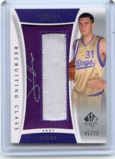 2007-08 SP AUTHENTIC #RC-SH SPENCER HAWES AUTOGRAPH PATCH ROOKIE RC #45/75 KINGS