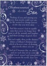 Grave Card / Christmas - Son  with FREE Holder-CM07 - Memorial Funeral Memoriam