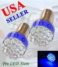 1157 1016 1152 Super Blue 19 LED BAY15D Turn Signal Brake Light Bulbs