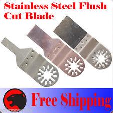 3  SS Flush Oscillating Multi Tool Saw Blade For Dremel Bosch Fein Multimaster