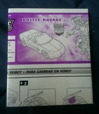 TRANSFORMERS ALTERNATORS BATTLE RAVAGE INSTRUCTION BOOKLET ONLY FREE S/H