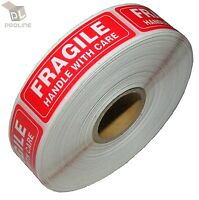 1000 Per Roll 1x3 FRAGILE HANDLE WITH CARE Stickers Labels, Easy Peel and Apply